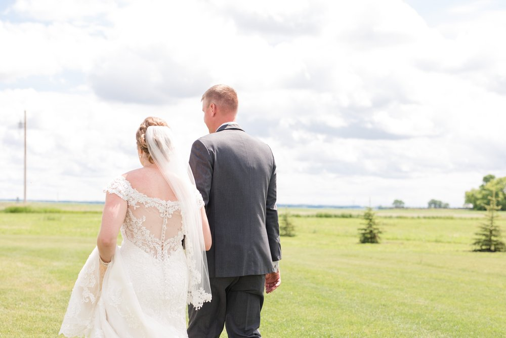 Country Styled, Rural, Ogema, Minnesota Church Wedding by Amber Langerud Photography | Andrea & Steve