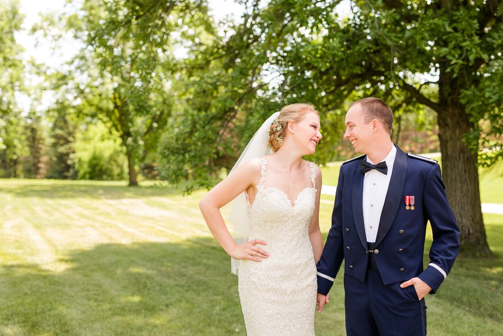 Summertime, Country Styled, Patriotic, Barn Wedding on the Lake at The Barn at Five Lakes near Frazee, MN by Amber Langerud Photography | Adrienne & Nick