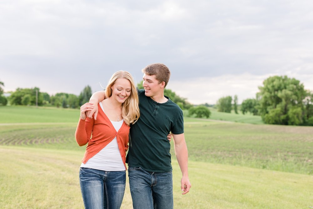 Country Styled, Romantic, Lakeside Engagement Session near Audubon, MN by Amber Langerud Photography | Ellie & Erik