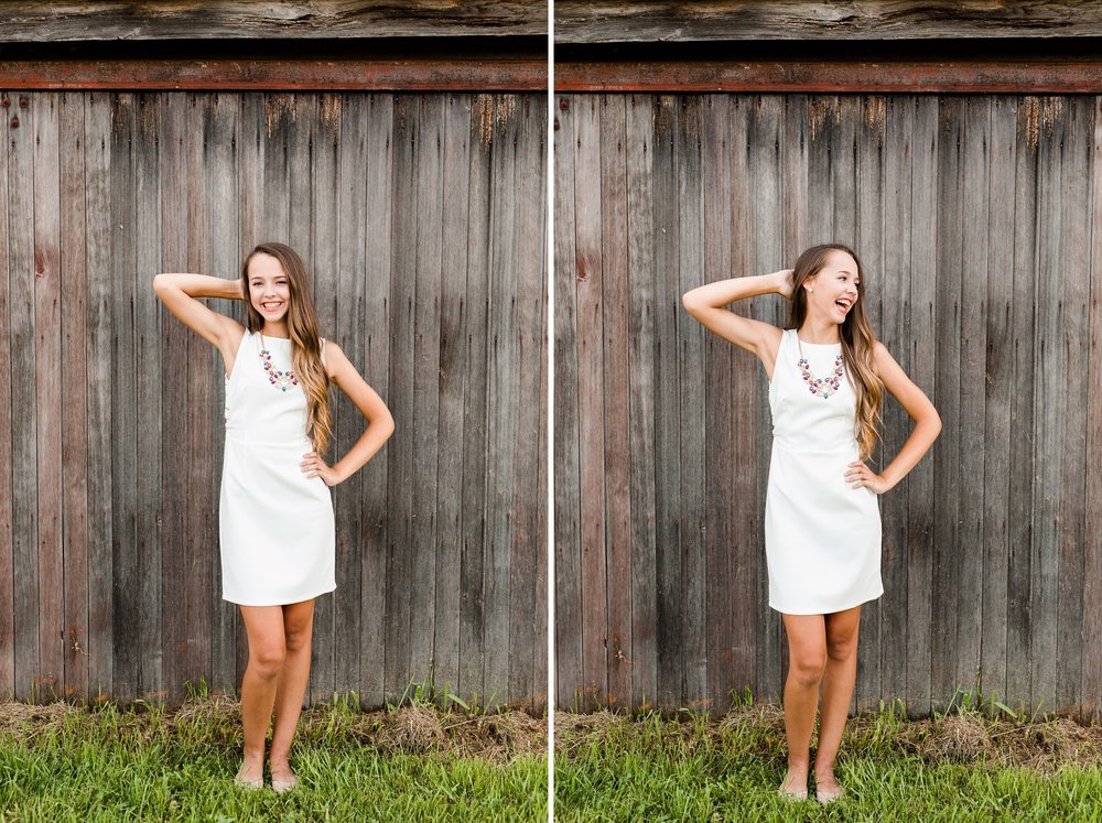 Dance and Country Styled High School Senior Session by Amber Langerud Photography near Audubon with Rustic Barnwood Backdrop | Riley