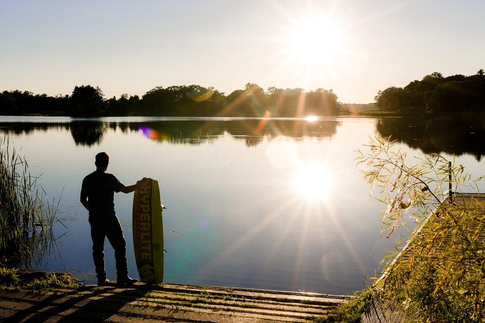 Country Styled Guy Senior Session on Little Cormorant Lake, Minnesota | Elijah