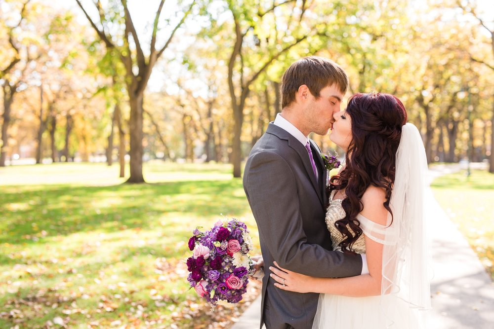 Downtown Fargo Disney Themed Wedding by Amber Langerud Photography | Island Park Portrait