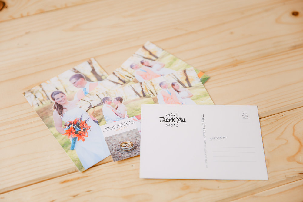 Cards - Postcards (pack of 100)makes amazing save the dates & thank yous$1005x7 Flat Cards with Envelopes (pack of 25)$69