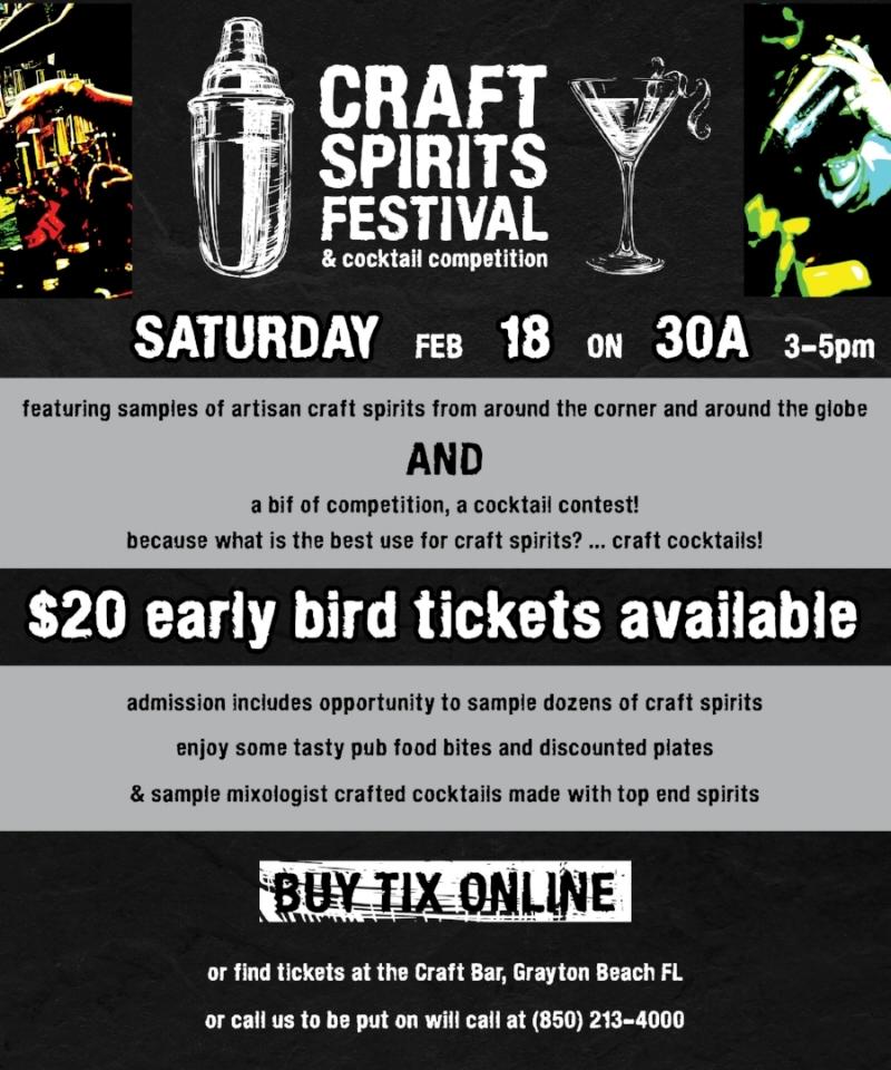 Craft Spirits Festival Feb 18
