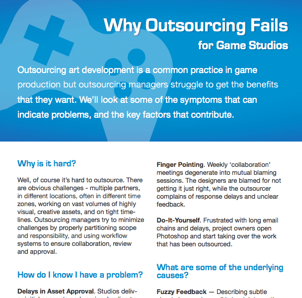 Why Outsourcing Fails - Gaming DOWNLOAD
