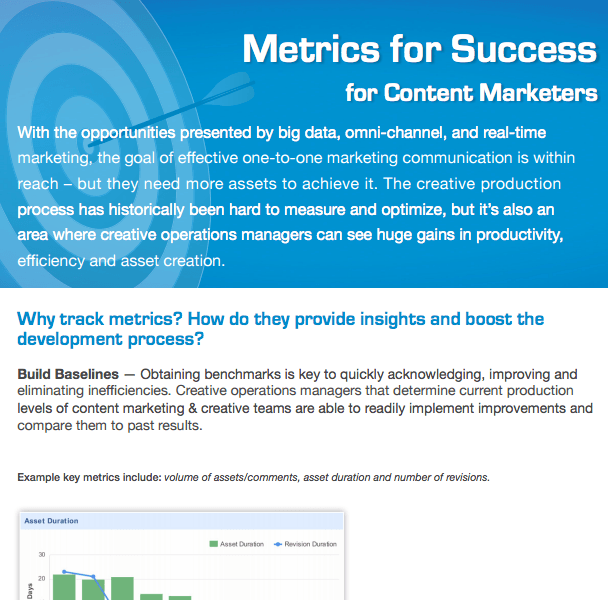 Metrics for Success - Content Marketers DOWNLOAD