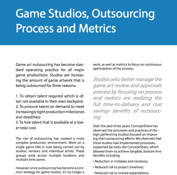 Game Studios, Outsourcing Process and Metrics DOWNLOAD