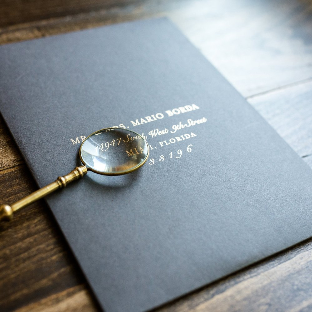 GUEST ADDRESSING - Printed in any ink color, including white or metallics like gold, rose gold, copper or silver