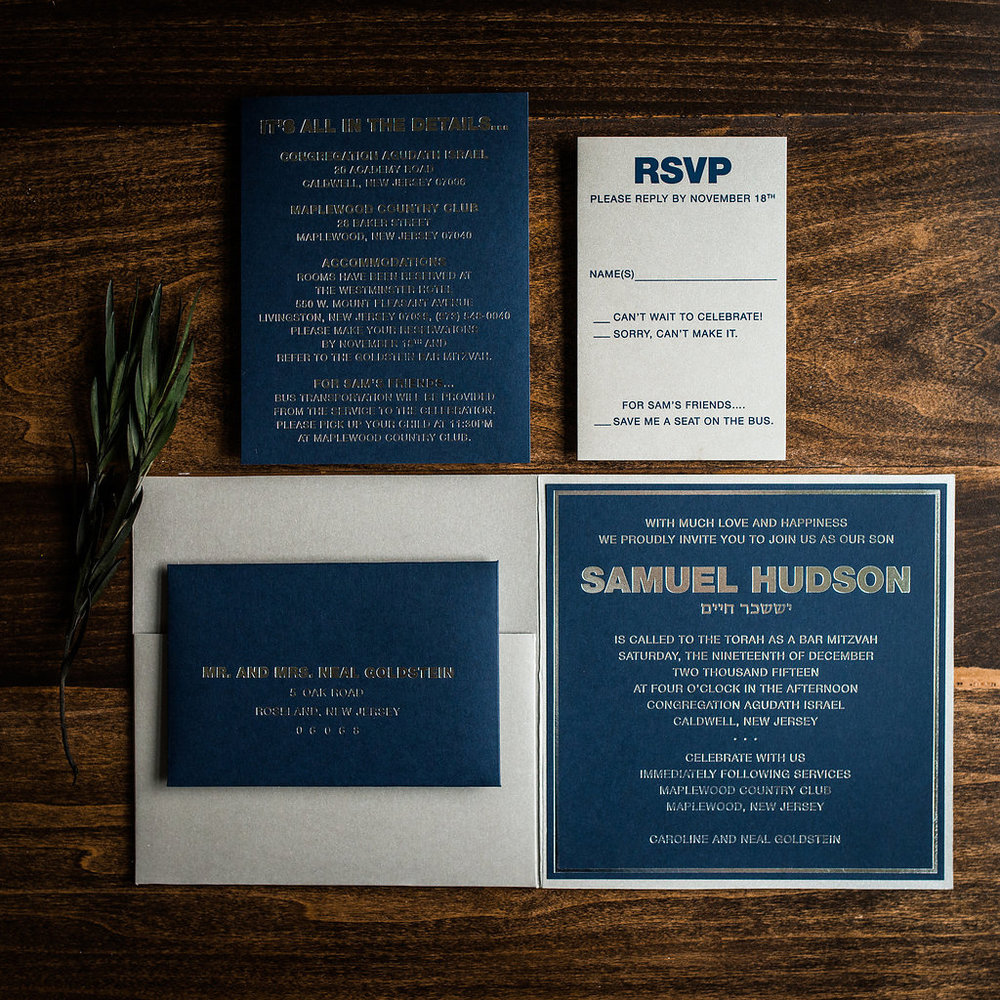 POCKET FOLDERS - Perfect for invitation suites with several enclosure cards