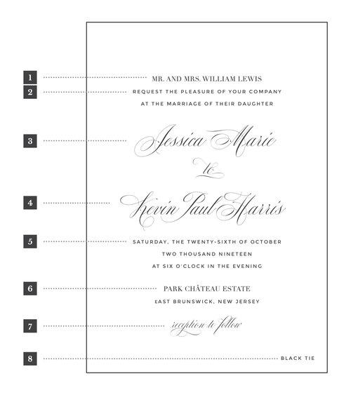 Wedding invitation wording penn paperie wordingg stopboris Image collections