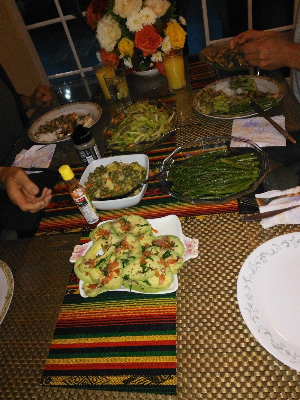 Dinner after Ayahuasca