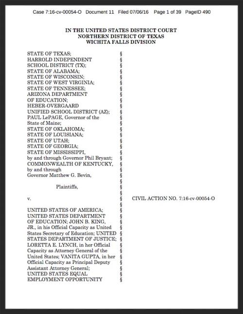 Texas Files Federal Lawsuit To Block Enforcement Of Transgender