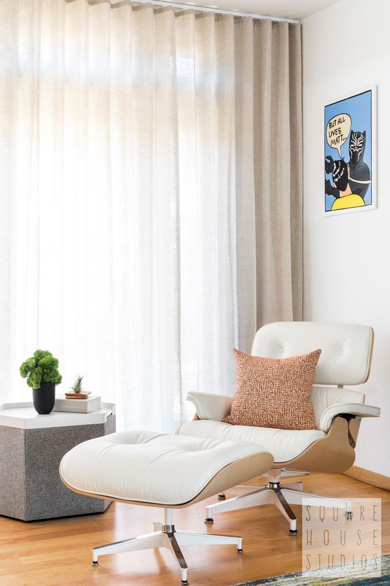 modern reading nook-eames chair-hecks ottoman.jpg