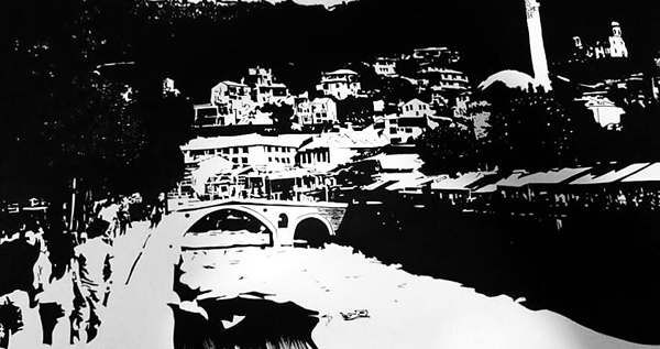 Prizren  (2018) Acrylic on paper 70 €