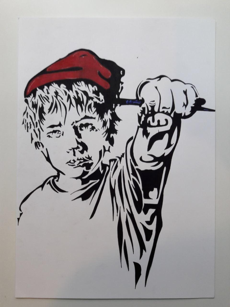 Kiddo (me?)(2017) Marker on paper 50 €
