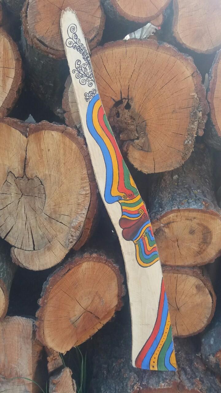 Untilted (2017) Acrylic on wood 70 €