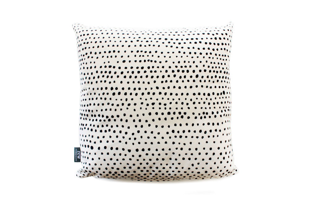 Hand Printed Dot Cushion
