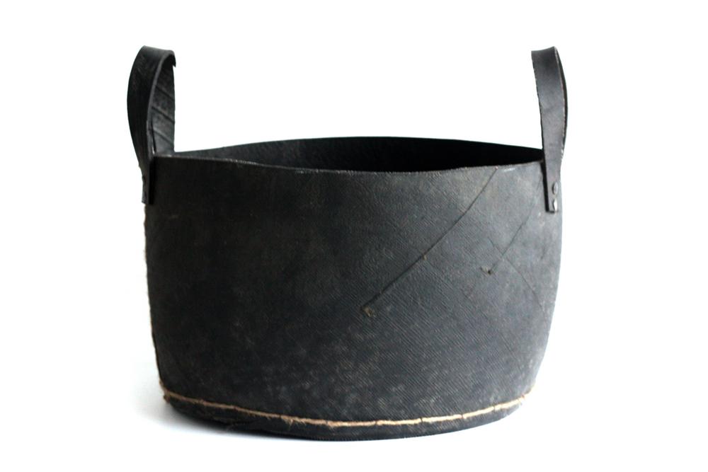 Black Rubber Basket