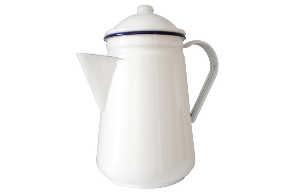 Falcon Camping Coffeepot - White