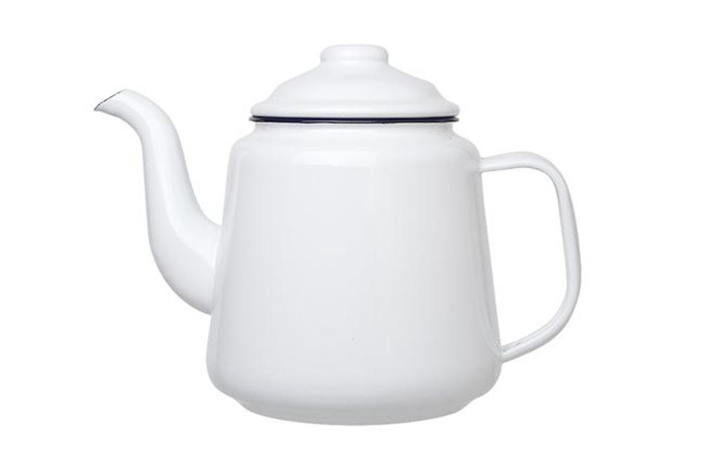 Falcon Camping Teapot - White