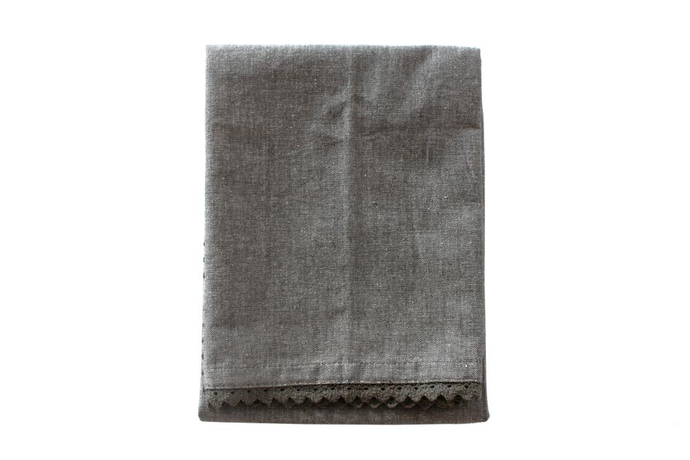 Chambray Tea Towel - Charcoal