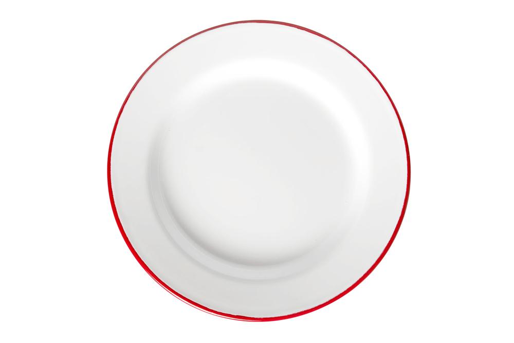 Falcon Red Rim Plate 24cm
