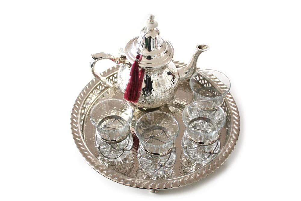 Moroccan Silver Tea Set