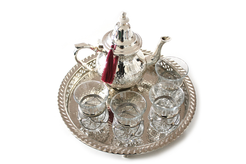 Moroccan Silver Tea Set