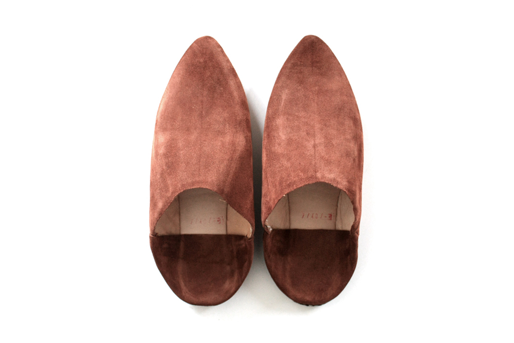 Suede Babouche Slippers _Brown, Woman & Man