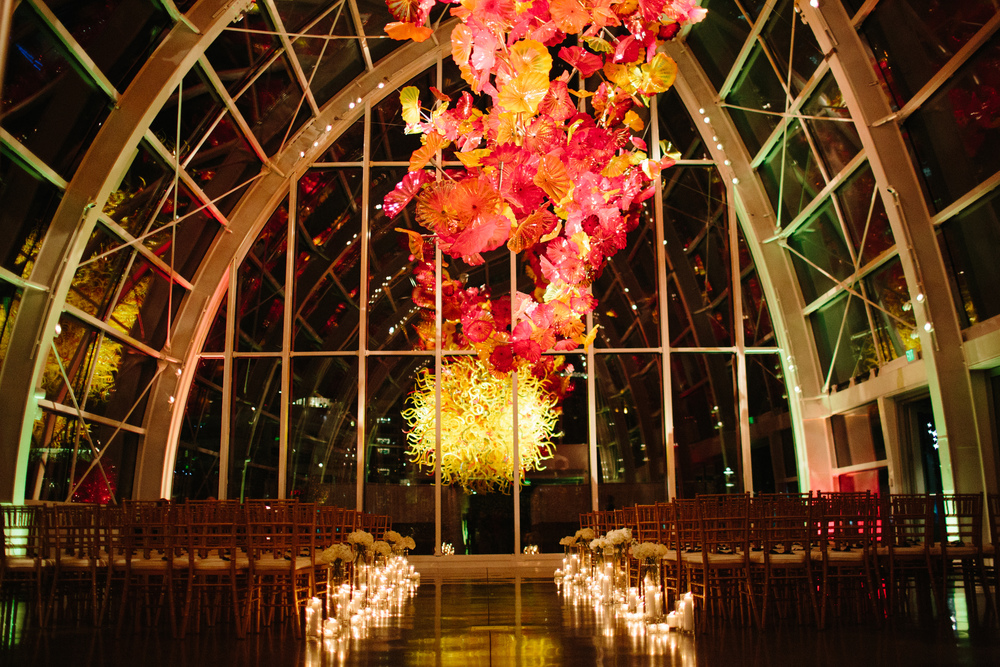 chihuly glass and garden wedding seattle wedding venue new creations wedding design and coordination - Glass Garden