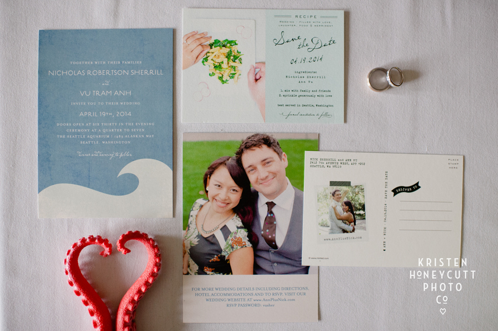 Seattle Aquarium Wedding | Ann and Nick | Invitation Suite