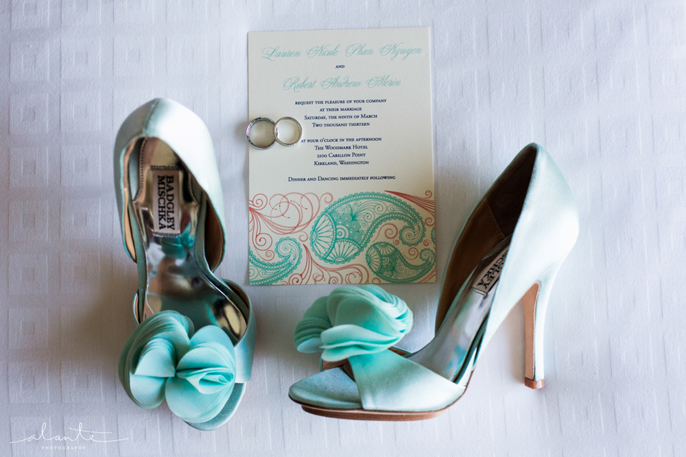 Seattle Wedding | Alante Photography | Teal and Peach Wedding