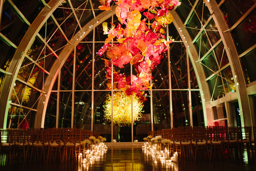 Chihuly Glass and Garden Wedding
