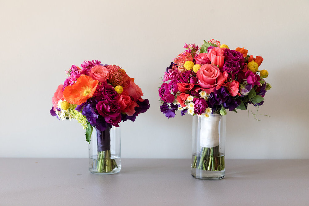 Within Sodo Wedding | Colorful Wedding Bouquet | Affinity Photography | Seattle Wedding Planner | New Creations Weddings