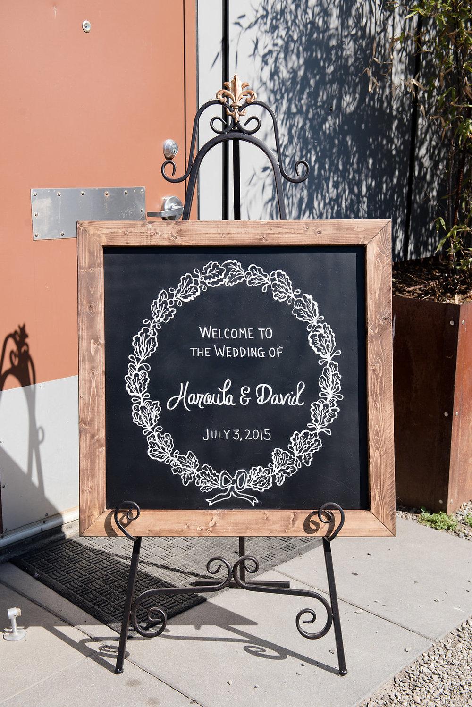 Within Sodo Wedding | Wedding Chalkboard Welcome Sign | Affinity Photography | Seattle Wedding Planner | New Creations Weddings