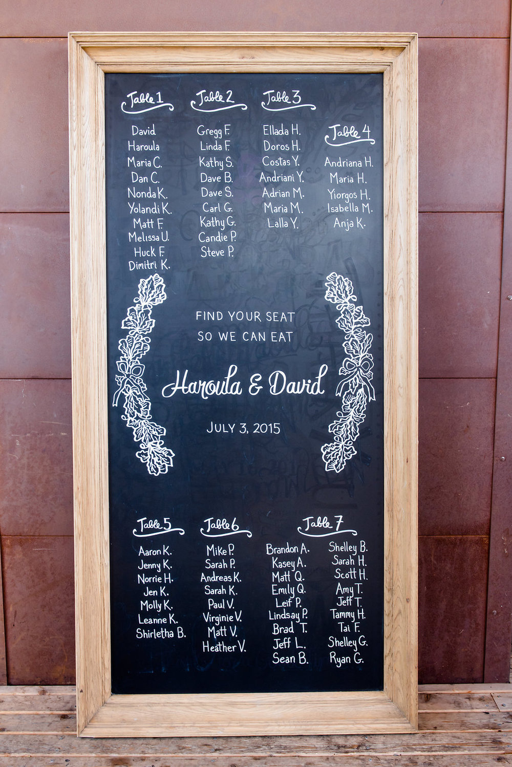 Within Sodo Wedding | Chalkboard Seating Chart | Affinity Photography | Seattle Wedding Planner | New Creations Weddings