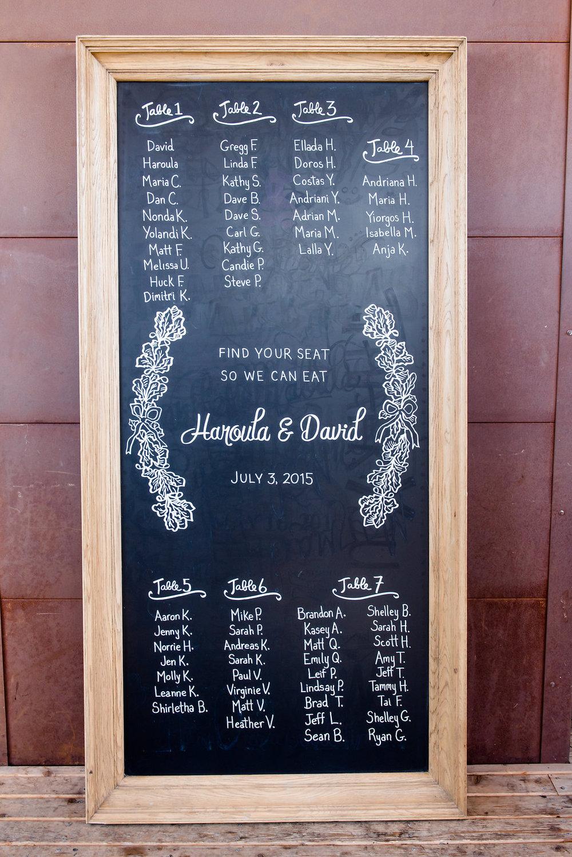 Within Sodo Wedding | Chalkboard Seating Chart | Affinity Photography | Seattle Wedding Planner | New Creations Weddings