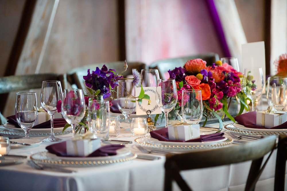 Within Sodo Wedding | Vineyard Chairs | Wedding Centerpiece | Affinity Photography | Seattle Wedding Planner | New Creations Weddings