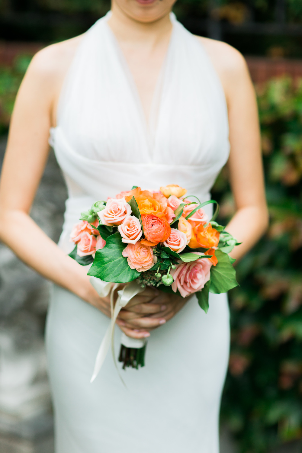 Pink and Peach Wedding Bouquet | Parsons Gardens Wedding | Asgari Photography | Chinese Wedding Planner | Seattle Wedding Planner