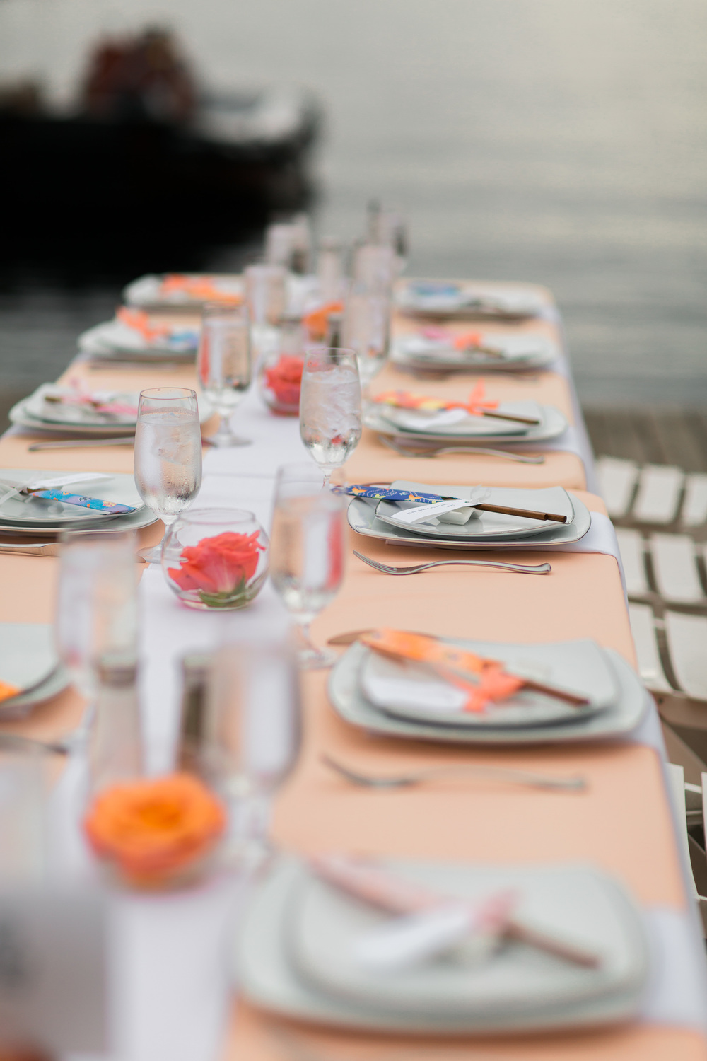 Peach and Pink Wedding | Chopstick Wedding Favors | Center for Wooden Boats | Asgari Photography | Seattle Wedding Planner | Chinese Wedding Planner