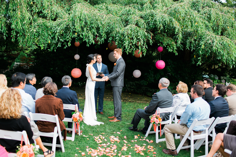 Parsons Gardens Ceremony | Chinese Lanterns | Pink and Peach Wedding | Asgari Photography | Seattle Wedding Planner | Chinese Wedding Planner