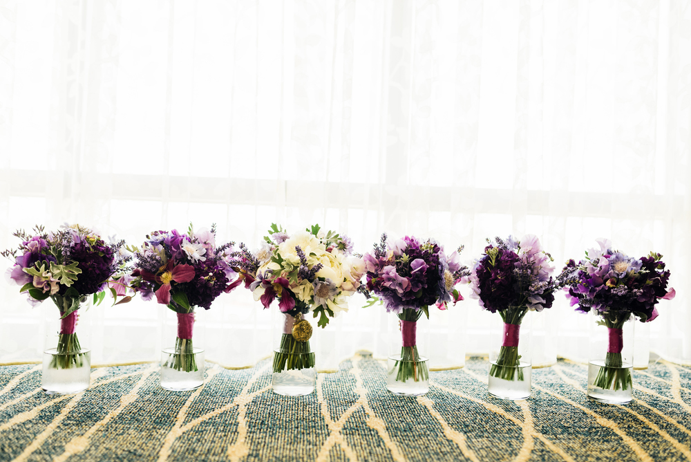 Purple Wedding Bouquets | Joe and Patience Photography | Filipino Wedding Planner | Seattle Wedding Planner | Ballard Bay Club Wedding
