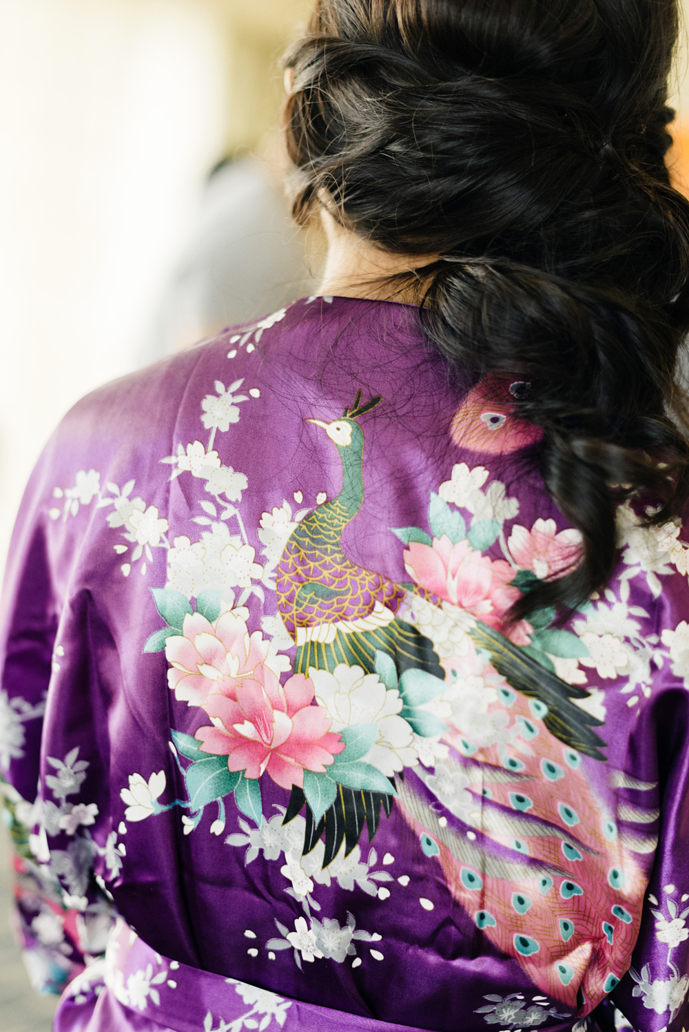 Purple Bridal Robe | Joe and Patience Photography | Filipino Wedding Planner | Seattle Wedding Planner | Ballard Bay Club Wedding