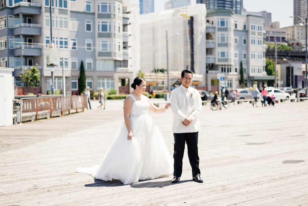First Look Photo | Joe and Patience Photography | Filipino Wedding Planner | Seattle Wedding Planner | Ballard Bay Club Wedding