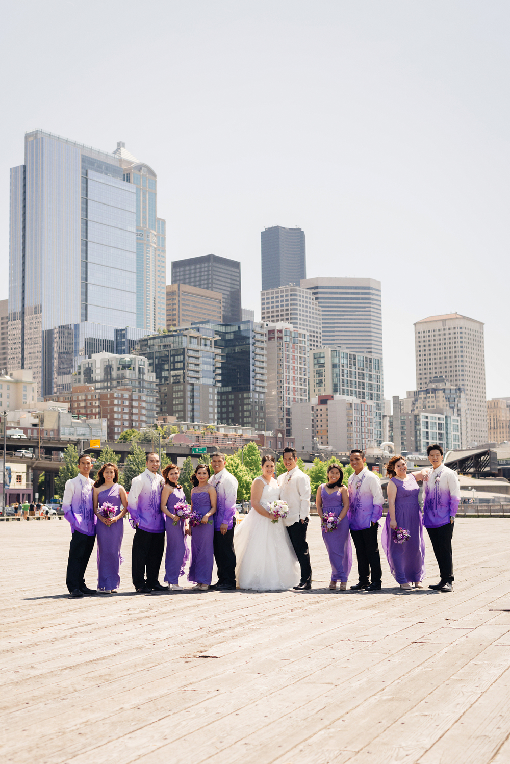 Purple Wedding Barong | Joe and Patience Photography | Filipino Wedding Planner | Seattle Wedding Planner | Ballard Bay Club Wedding