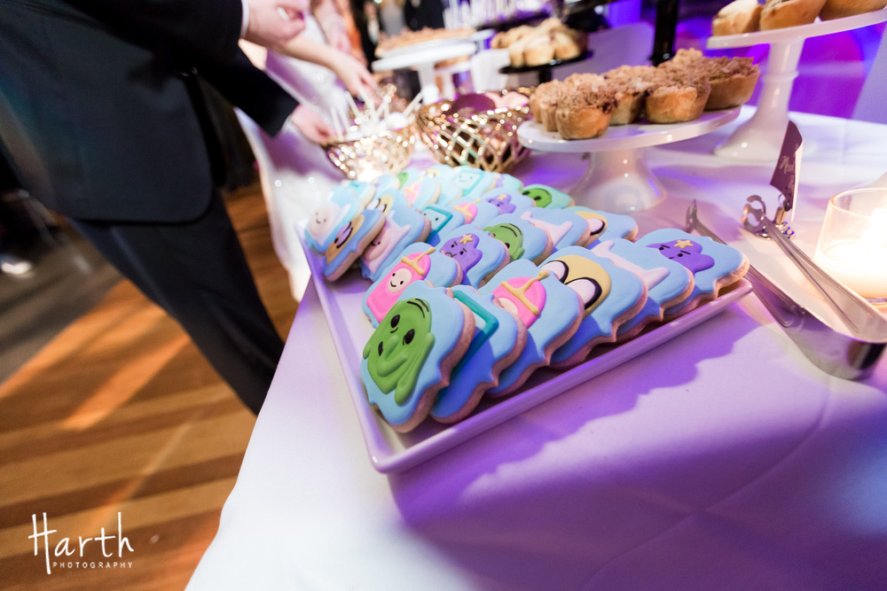 Cartoon Cookies for Wedding Dessert Table at Novelty Hill Januik Winery