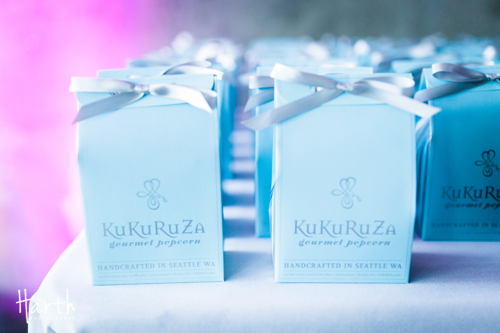 Kukuruza Popcorn Wedding Favors from Fall Wedding at Novelty Hill Januik Winery