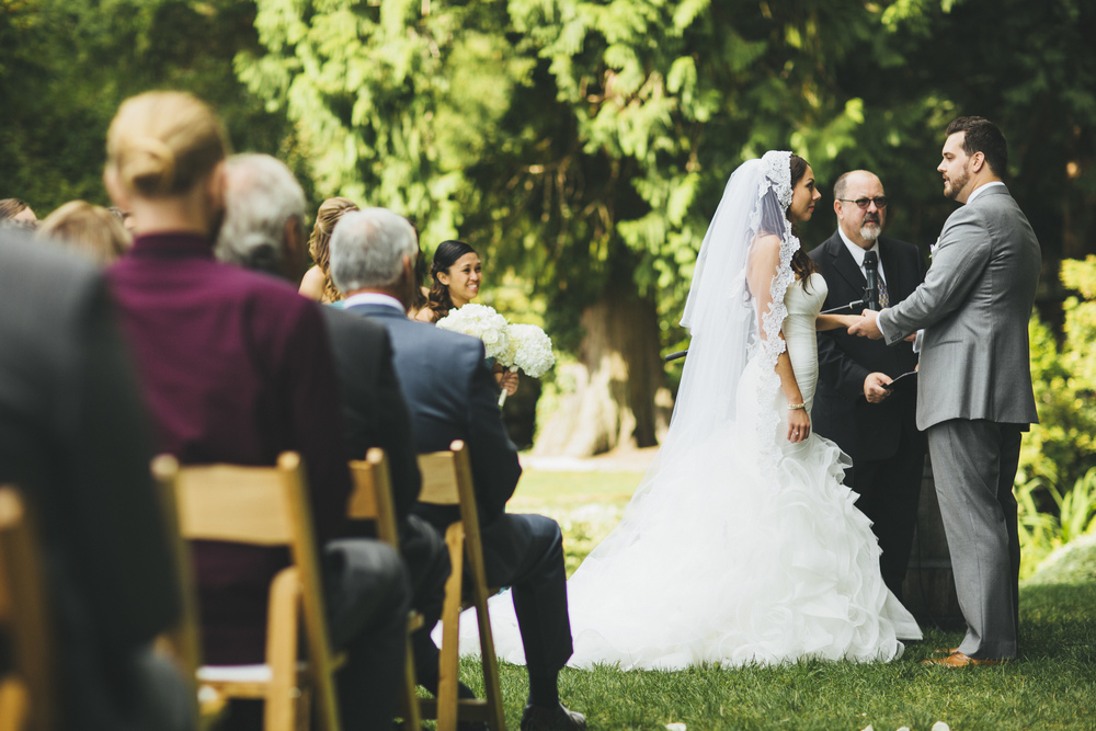 Rustic Wedding Ceremony in Woodinville