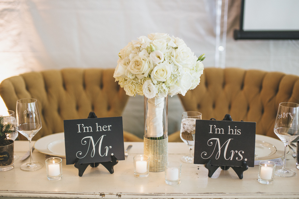 Sweetheart Table Chairs and Signs