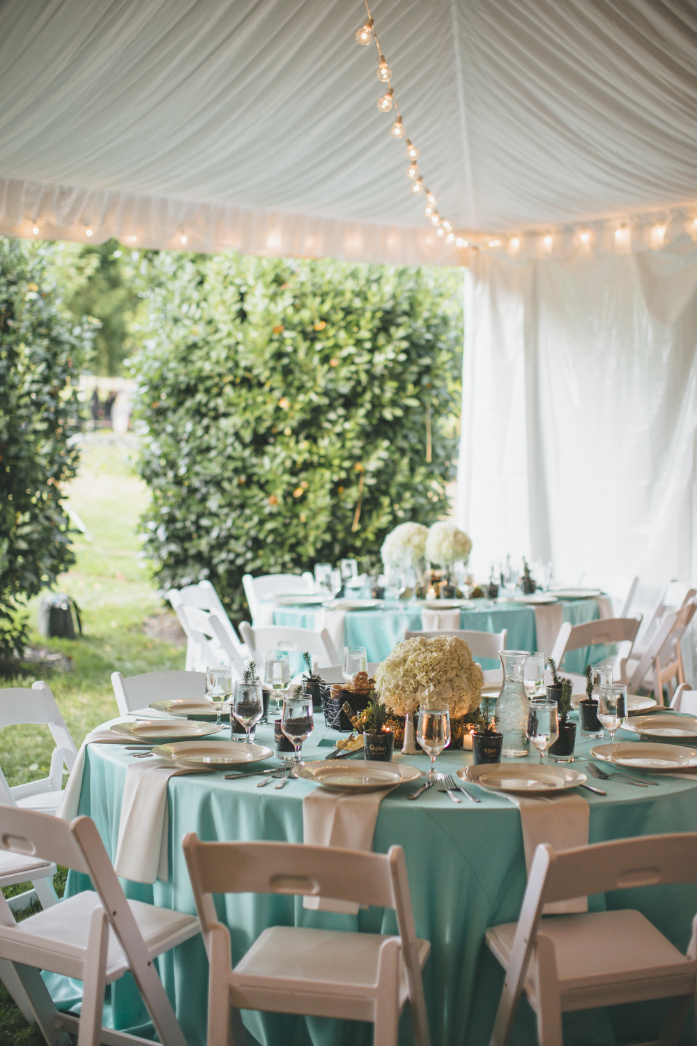 Teal and Green DeLille Cellars Wedding
